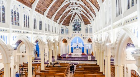 Blessing and re-dedication of St Mary of the Angels Church, Wellington, NZ. 12 April 2017.  Photo credit: Stephen A'Court.  COPYRIGHT ©Stephen A'Court